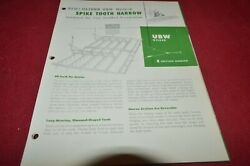 Oliver Tractor Ubh Weided Spike Tooth Harrow Brochure Fcca