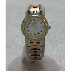 Hermes Cl4 220 White Stainless Steel Quartz Analog Swiss Made Ladies Watch