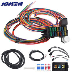 14 Circuit Wiring Harness For Universal Muscle Car Hot Rod Street Rod Xl Wires