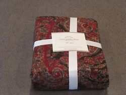 New Rare 5pc Pottery Barn Carrie Paisley Queen Duvet W Shams - Lodge Christmas