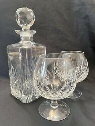Illusions Handcut Crystal By Samobor Crystal Brandy Decanter And Glass Set