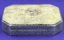 Austrian Sterling Silver And Shagreen Snuff Box