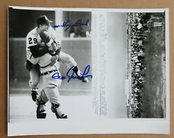 Tigers 1968 World Series Freehan - Lolich Signed Vintage 7 X 9 Wire Photo