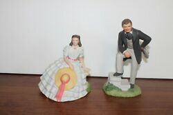 Gone With The Wind Rhett And Scarlett Figurines Avon Images Of Hollywood Mint