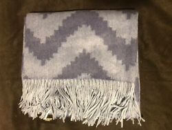 Williams Sonoma Novelty Patterned Jacquard Cashmere Throw 50x65 New W Tag