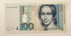German Federal 100 Mark Banknote, 1996 Year Good Condition