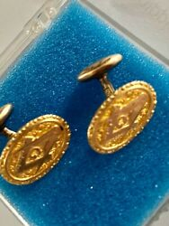 Vintage Masonic Gold Filled Cuff Links