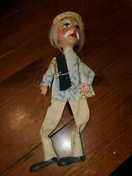 Vintage Mexican Marionette Puppet With Disney Shirt