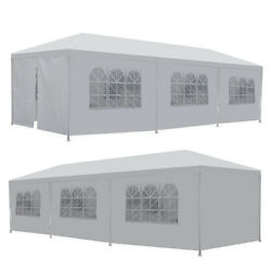 10and039 X 30and039 Gazebo Canopy Event Wedding Party Tent With Side Walls Bbq Outdoor