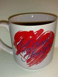Carlton Cards Vintage Collectible Coffee Mug Just Donand039t Forget I Love You - 8 Oz