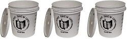 7.9 Gallon Plastic Fermentor With Lid Three Pack