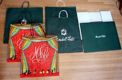 Vintage Marshall Fields Shopping Bags Winter Large Box Set Of 6 Guc