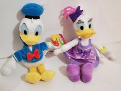 Donald And Daisy Duck Small Plush Disney Stuffed Toy Hat Outfit Sailor Dancer