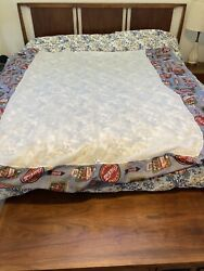 Vintage Coca Cola Coke Bed Skirt Double 54x75 Size Fabric Ice Cold Drink, Usa