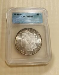 1885 S Morgan Silver Dollar Icg Ms65. Very Rare Brilliant Lustrous Beauty 1600