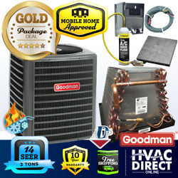 3 Ton 14 Seer Goodman Mobile Home Ac Heat Pump + Coil System Line Flush Kit