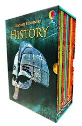 New Usborne Beginners History 10 Books Collection Educational Kids Gift Library