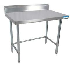 Bk Resources 96w X 30d 14 Gauge Stainless Steel Open Base Work Table