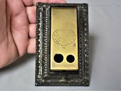 Vintage 1900and039s Cast Iron 2 Hole Cigar Cutter H.knobloch Patent Germany Very Nice