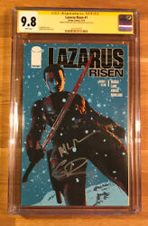 Lazarus Risen 1, Cgc 9.8 2x Ss, Signed By Rucka And Lark, Graded Nm/mt