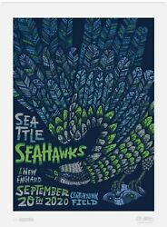 Limited Edition Seattle Seahawks Gameday Posters Lot 2020 All 9