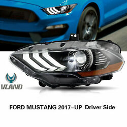 Left+right White Led Sequential Headlight Replacement For Ford Mustang 20182020