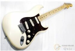 Fender Usa American Deluxe Stratocaster N3 White Electric Guitar 2011-12