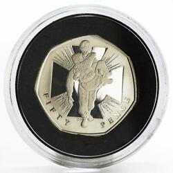 Britain 50 Pence The Wounded Soldier Proof Silver Coin 2009