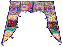 Valance Embroidered Topper Door Hanging Gate Deco Indian Traditional Toran