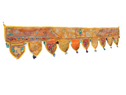 Embroidered Valance Gate Deco Toran Indian Traditional Topper Door Hanging