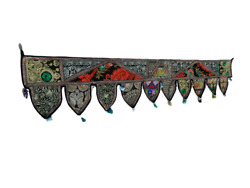 Topper Door Hanging Gate Deco Toran Embroidered Valance Indian Traditional