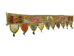 Door Hanging Topper Gate Deco Toran Embroidered Valance Indian Traditional