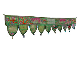 Valance Indian Traditional  Door Hanging Topper Gate Deco Toran Embroidered