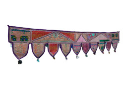 Indian Traditional Door Hanging Valance Topper Gate Deco Toran Embroidered