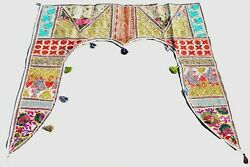 Indian Traditional Toran Valance Embroidered Topper Door Hanging Gate Deco