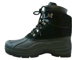 Men#x27;s Totes Boots Size 9 amp; 13 Glacier Lace Insulated Black New $30.00