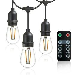Outdoor/indoor 48 Ft. Plug-in S14 Bulb Led String Light With Wireless 265w Dimme