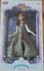 Disney Store Limited Edition Doll Anna 17 Le 5000 Frozen Green Dress