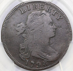 1798 1c Reverse Of 1795 S-155 Draped Bust Large Cent Pcgs F Details