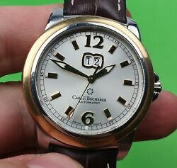 Carl F. Bucherer Patravi Gold Stainless Steel Automatic Menand039s Watch Used