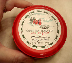 Country Harvest Winter Farm Body Butter New Praline And Cream Scent In Metal Tin