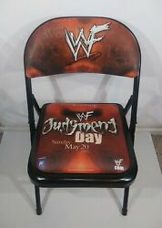 Wwf Judgement Day Wrestling Chair May 20th 2001 Ringside Seat Rc Cola Very Rare