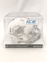 Miami Dolphins Unsigned Riddell Speed Alternate Ice Mini Helmet New In Box