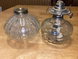 Lot Of 2 Lamplight Farms Made In Austria Oil Lamp Base Containers