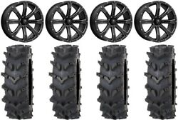Msa Bounty 20 Wheels Black 36 Outback Maxand039d Tires Can-am Defender