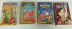 Lot Of 25 Disney Masterpiece Collection Movie Tapes Vhs Clamshell Cases