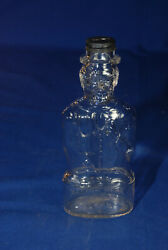 Vintage Glass Lincoln Coin Bank Bottle Lincoln Foods Inc Lawrence Mass