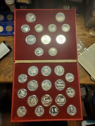 1980 Moscow Olympic 28 Silver Coin Proof Set With Box And Coa