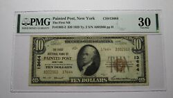 10 1929 Painted Post New York Ny National Currency Bank Note Bill 13664 Vf30