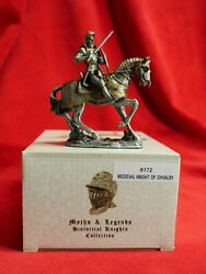 2006 Myths And Legends Pewter6172 Medieval Knight Of Chivalrymint With Box